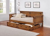 Rustic Honey Twin Daybed with Trundle