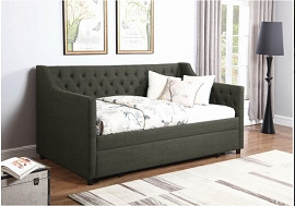 Charcoal Fabric Twin Daybed