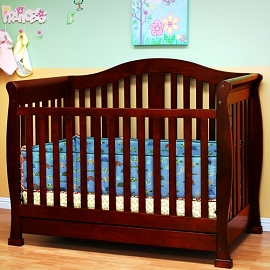 Solid Wood 3-in-1 Crib with Drawer