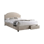 Niland 2-Drawer Upholstered Storage Bed Charcoal-