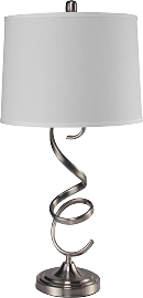 Brush Steel base Table Lamp