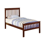 Parker Twin Slat Panel Bed Chestnut