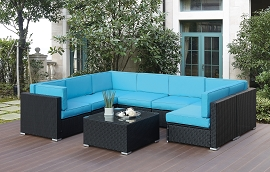 8 Pcs Outdoor Sectional - Blue