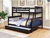 Twin/ Full Wooden Bunk Bed