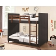 Twin Leatherette Bunk Bed