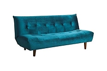 Sofa Bed Upholstered in Teal Velvet
