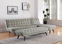 Natalia Tufted Sofa Bed Dove Grey