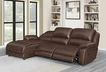 3 Pcs  Mackenzie Casual Motion Chestnut Motion Sofa