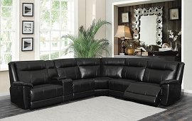 Cullen Black 6 Pcs Power Reclining Sectional