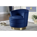 Velour Swivel Accent Chair- blue, grey or pink