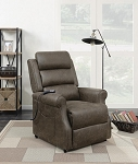 Upholstered Power Lift Recliner Brown