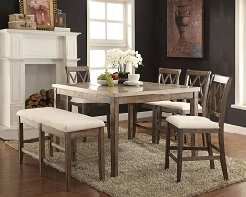 Claudia Counter Height Marble Table set