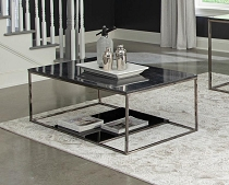 Schwartzman 1-Shelf Rectangular Coffee Table Black