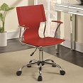 Contemporary Office Chair with Upholstered Seat- color option