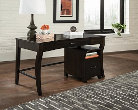 Smokey Black and Brown Writing Desk By Scott Living