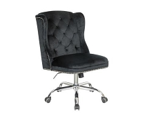 Modern Black Velvet Office Chair (Temporarily out of stock )