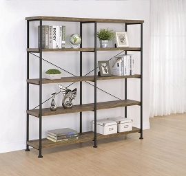 Analiese 4-Tier Bookcase Rustic Oak And Black