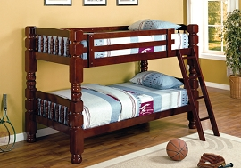 Jumo Twin/Twin Bunk Bed with 4.5