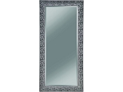 Black Raised Mosaic Inspired Design Mirror