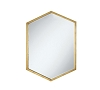 Hexagon Shaped Gold Mirror