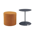 Seanna Accent Table With Round Ottoman