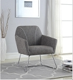 Grey Chrome Accent Chair