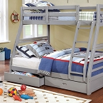 Twin over Full Wooden Bunk Bed With Drawers- color option