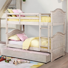 HERMINE TWIN/TWIN BUNK BED (Out of Stock) Call Store for ETA