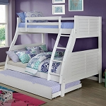 HOOPLE White TWIN/FULL BUNK BED
