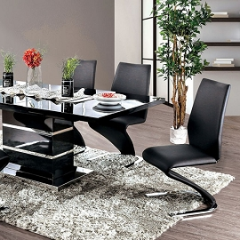 Midvale High Gloss Lacquer Dining Table Set