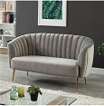 Dionne Gray Love Seat