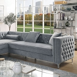 Amie Sectional Grey