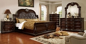 Traditional Style Cherry Finish Bed Frame