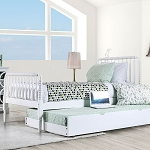 Jenny White Bed Frame - With Trundle Option