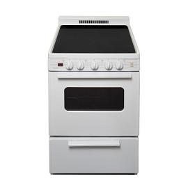 Premier 24 in. 3.0 cu. ft. Freestanding Smooth Top Electric Range in White or Black