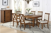 7 Pcs Wooden White Dining Set