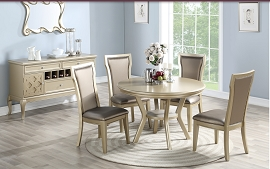 5 Pcs Circle Dining Table Set