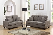 2 Pcs Bobkona Oleta Sofa & Loveseat Set