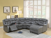 5 Pcs Reclining Sectional Set- Grey or Dark Brown
