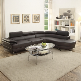 Modern Leatherette Sectional