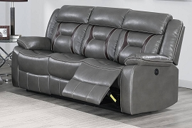 Power Grey Sofa Recliner