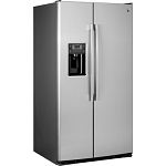 GE 25.4-cu ft Side-by-Side Refrigerator with Ice Maker (Stainless Steel)