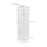 SLAYSTATION® 9-DRAWER MAKEUP VANITY STORAGE UNIT( out of stock )