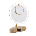 MELODY 9-INCH ROUND DUOTONE MAKEUP MIRROR WITH BLUETOOTH SPEAKERS