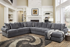 Memphis 4-Pc Thunder RAF Sectional (Oversized) by Comfort Industries