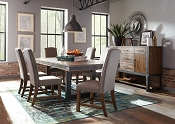 7 Pcs Atwater Industrial Distressed Table and Chair Set