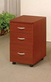 Cherry Finish File Cabinet