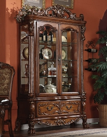 Elegant Cherry Oak Curio Cabinet (Out of Sock, Call Store for ETA)