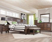Franco Bed with Louvered Panel Headboard