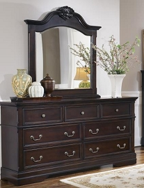 Dark Cherry Dresser/ Mirror